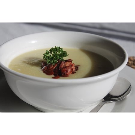 LAMINATED POSTER Potato Bacon Delicious Bowl Dish Meal Leek Soup Poster Print 24 x