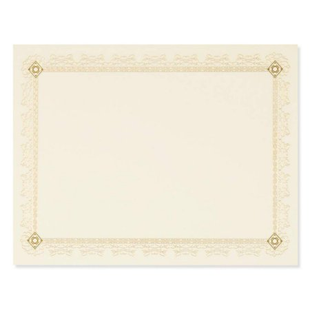Best Paper Greetings Certificate Paper with Gold Foil Leaf Borders - 48 Pack - Blank Printer Friendly Letter Size Gold, 8.5 x 11
