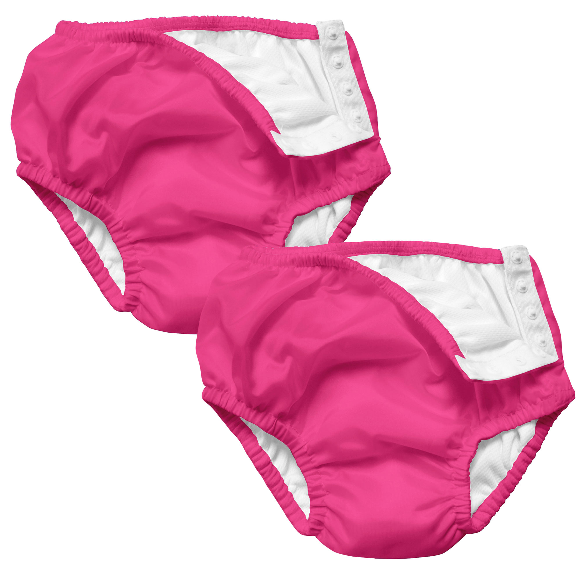 i play Baby and Toddler Snap Reusable Swim Diaper - Hot Pink - 2 Pack