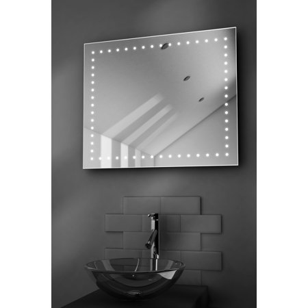 empire shaver led bathroom illuminated mirror with demister pad