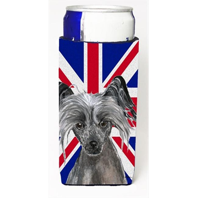 Chinese Crested With English Union Jack British Flag Michelob Ultra bottle sleeves For Slim Cans - 12 Oz. - image 1 of 1