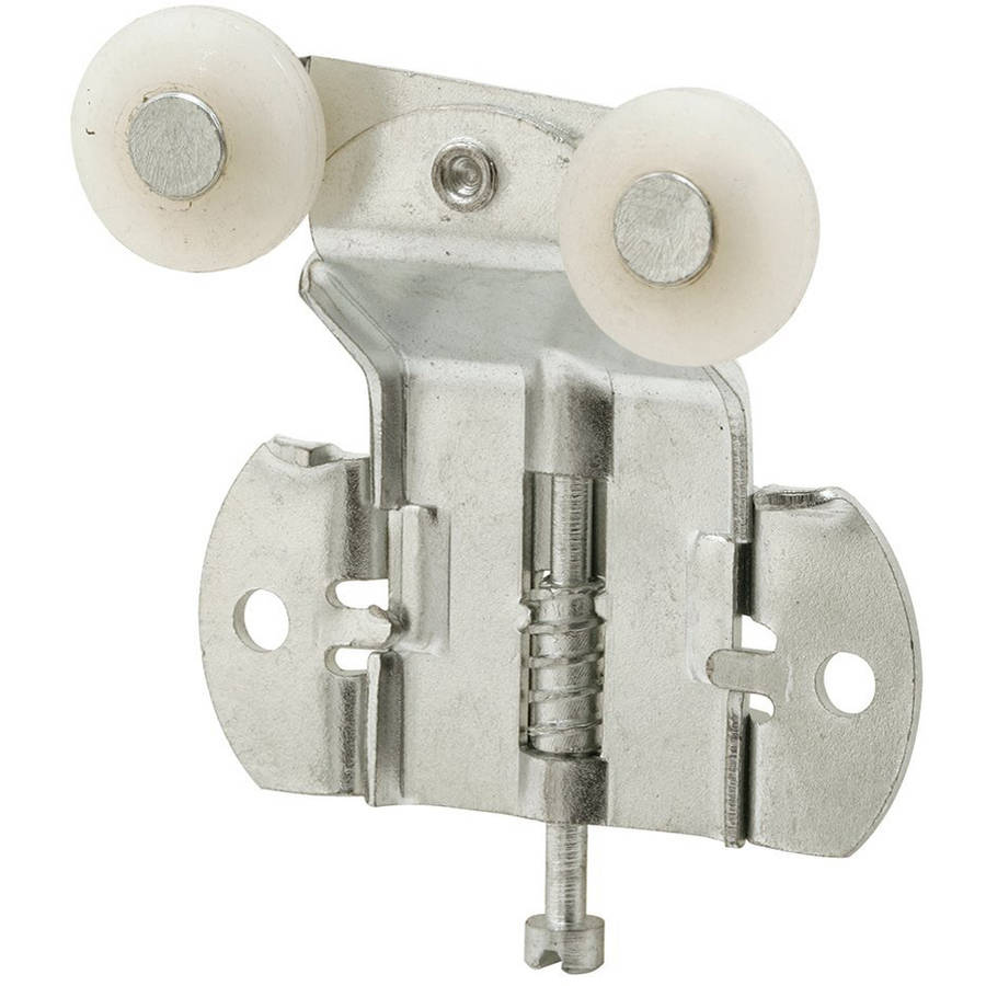Prime-Line Products N 6523 Back Closet Door Tandem Roller with 3/4-Inch Offset and 3/4-Inch Convex Wheels,(Pack of 2)