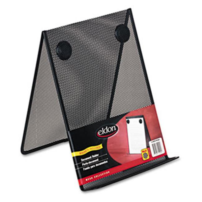 Eldon Office Products FG9C9500BLA Nestable Wire Mesh Freestanding Desktop Copyholder, Stainless Steel, Black