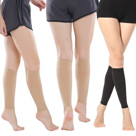 Calf Compression Sleeves, Vein Relief Varicose Compression Leg Calf Sleeve Support Socks Stockings, Ergonomic fit for Men and Women, Ideal for Sports, Work, Flight, Pregnancy Skin