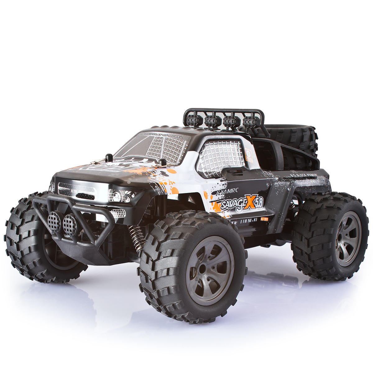 Grtsunsea 100M Control 1:18 55KM 2.4G Remote Control RC Rock Crawler Car Truck High Speed Off-Road Vehicle Toys Kids Gift - Orange