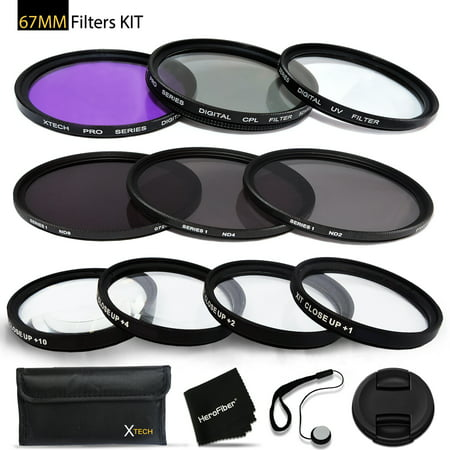 67mm Filters Set for 67mm Lenses and Cameras includes: 67mm Close-Up Macro - Bower 67mm Lens