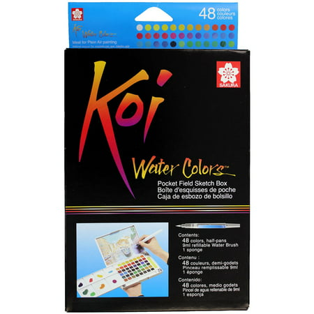 Sakura Koi Watercolor Pocket Field Sketch Box Set, 48-Colors