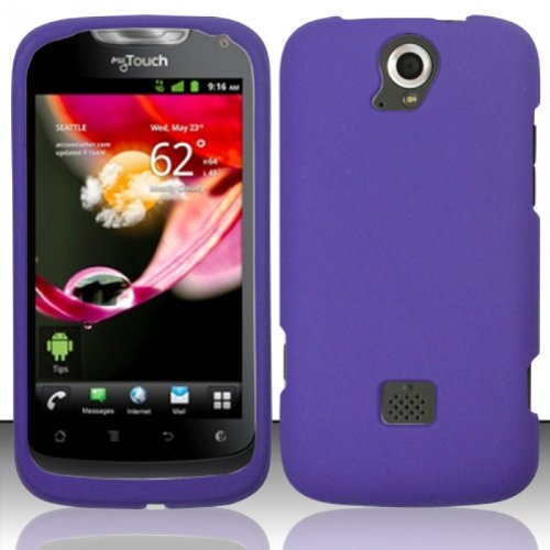 Hard Rubberized Case for Huawei myTouch Q U8730 - Purple