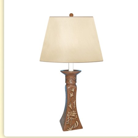 - JB Hirsch Home Decor Royal Candlestand Hand Painted Porcelain 20'' Table Lamp
