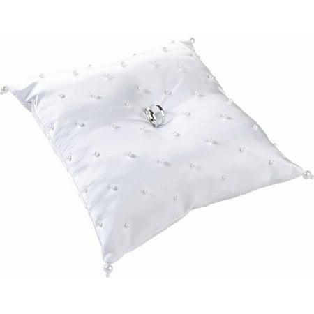 Lillian Rose Pearl Ring Bearer Pillow, White