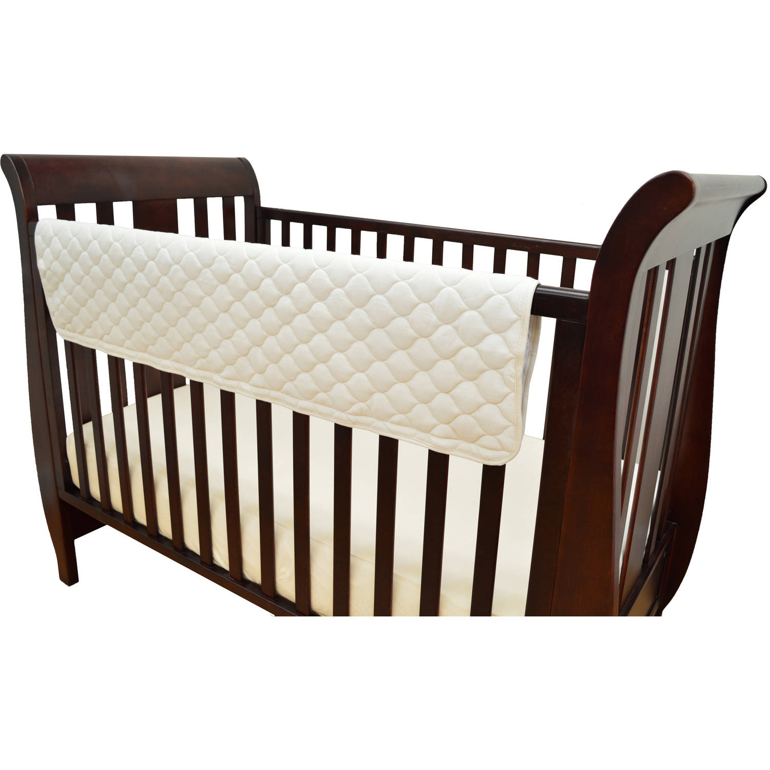 TL Care Organic Cotton 2-Pack Side Crib Rail Covers, Natural