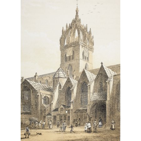 St Giles Cathedral Or The High Kirk Of Edinburgh Scotland From The Scots Worthies According To Howies Second Edition 1781 Published 1879 Posterprint
