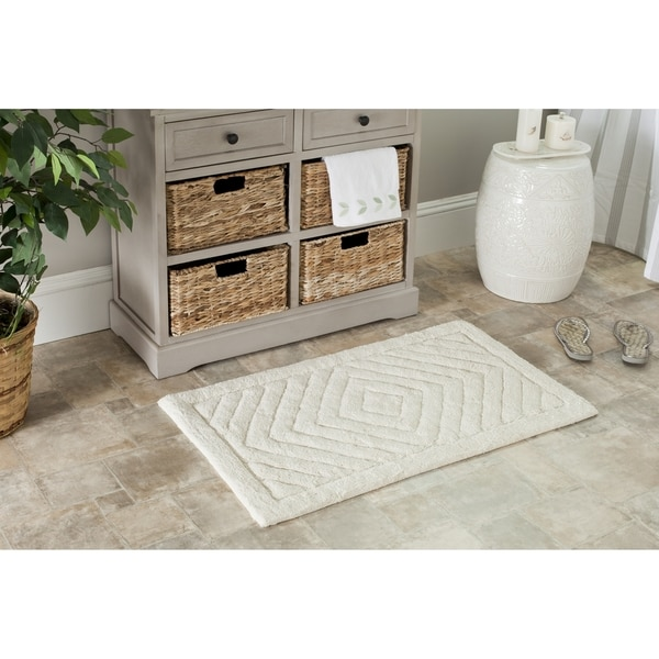 Safavieh Plush Master Cotton Bath Rugs, Set of 2