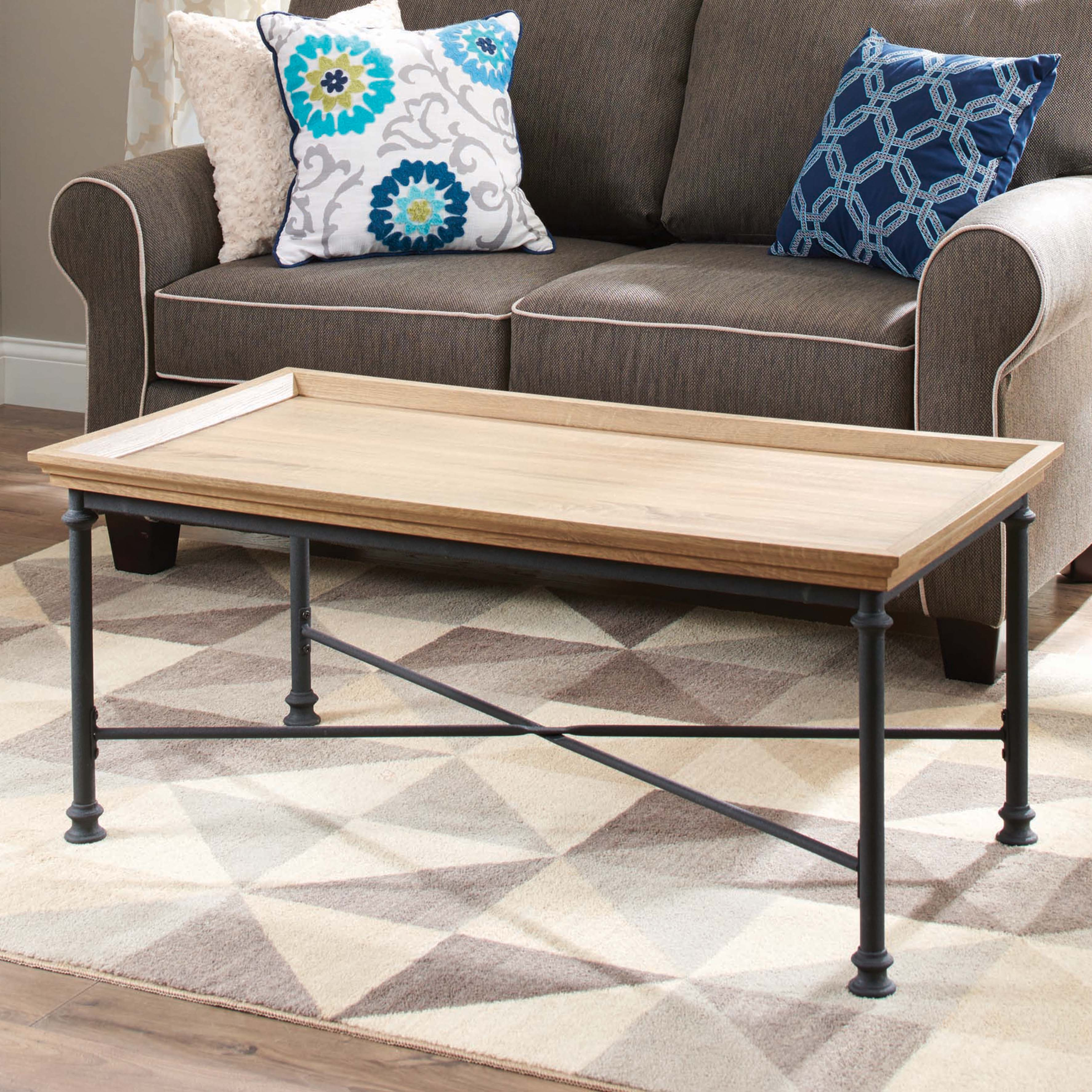 Better Homes U0026 Gardens River Crest Coffee Table, Rustic Oak Finish