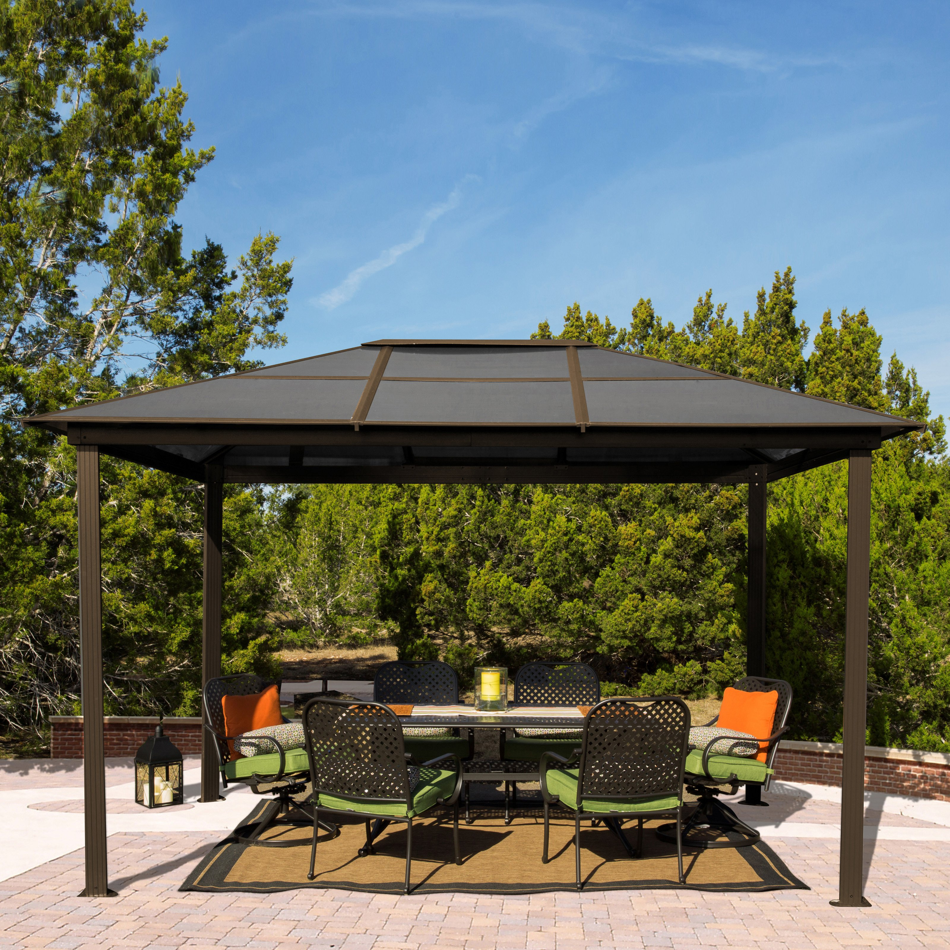 STC 9 x 12 ft. Madrid Gazebo by Systems Trading Corp