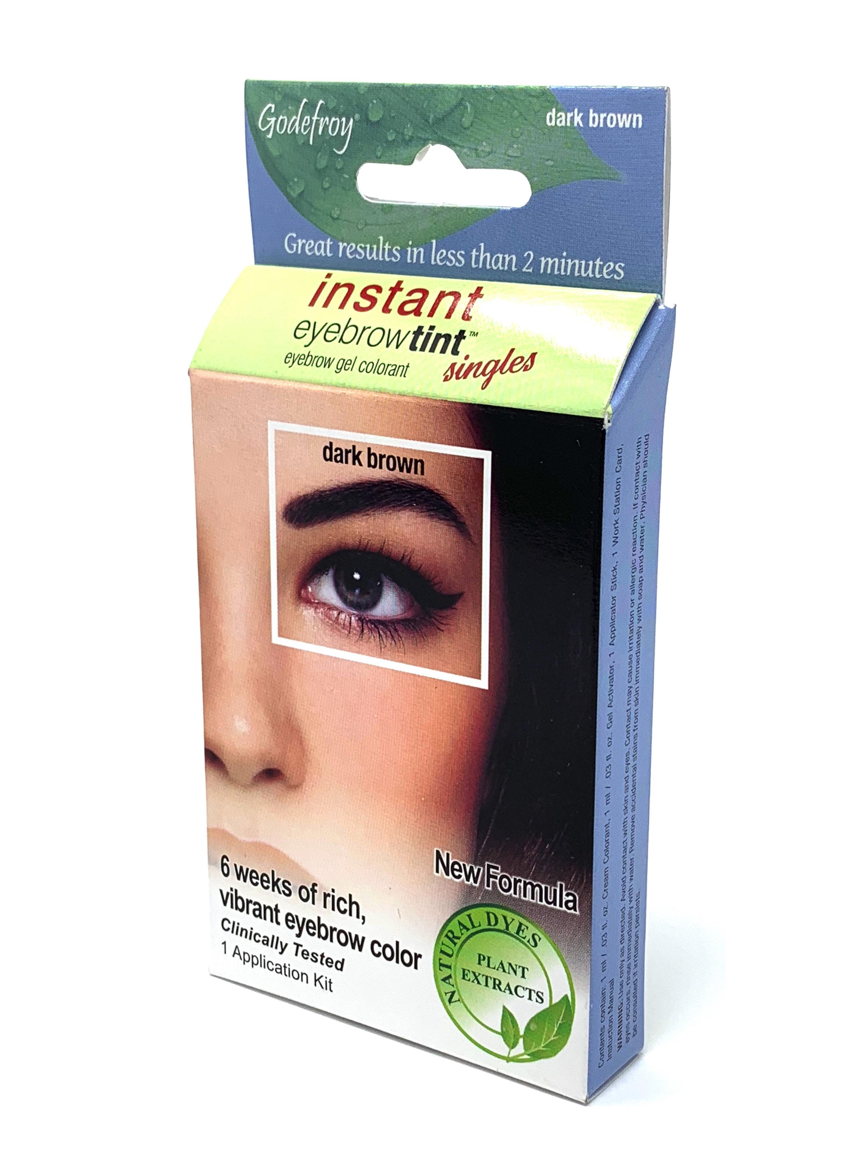 Godefroy Instant Eyebrow Tint Dark Brown Single Application