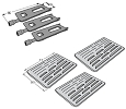 Bakers and Chefs Grill Heat Plate & Burner 3 Pack 9905TB, 9912T, 9803S by