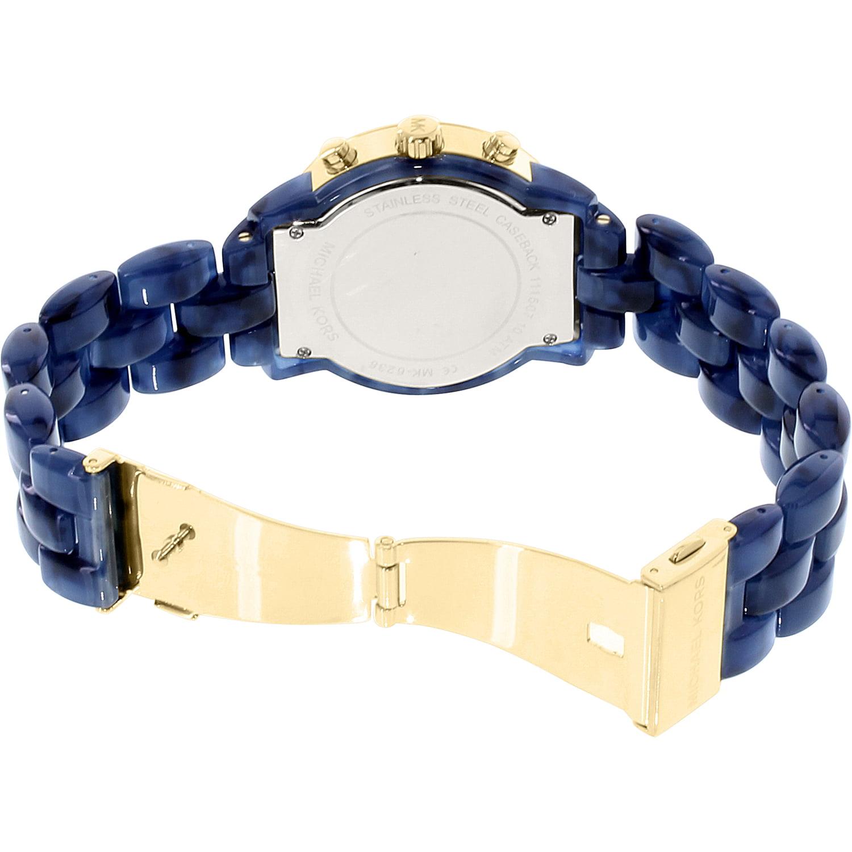 e99081306d26 Michael Kors - Women s Audrina MK6236 Blue Plastic Quartz Watch -  Walmart.com