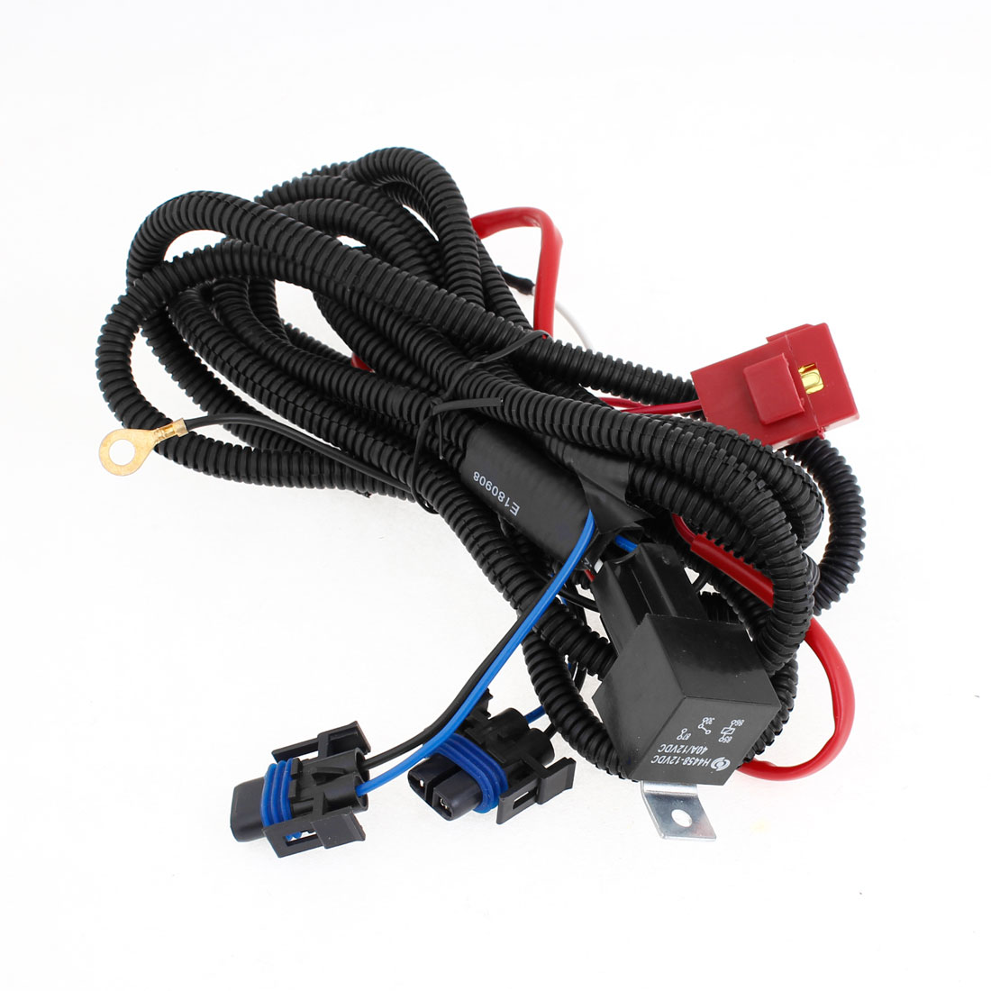 h11 hid headlight fog light relay wiring harness wire for auto rh walmart com Headlight Wiring Harness Repair Putco Headlight Wiring Harness