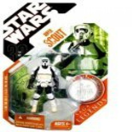 Star Wars Saga Legends Action Figure, Biker Scout with Collector Coin