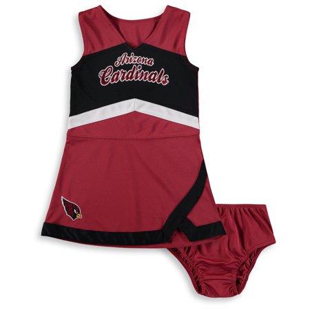 Cardinal Dress (Arizona Cardinals Girls Preschool Cheer Captain Jumper Dress - Cardinal/Black )