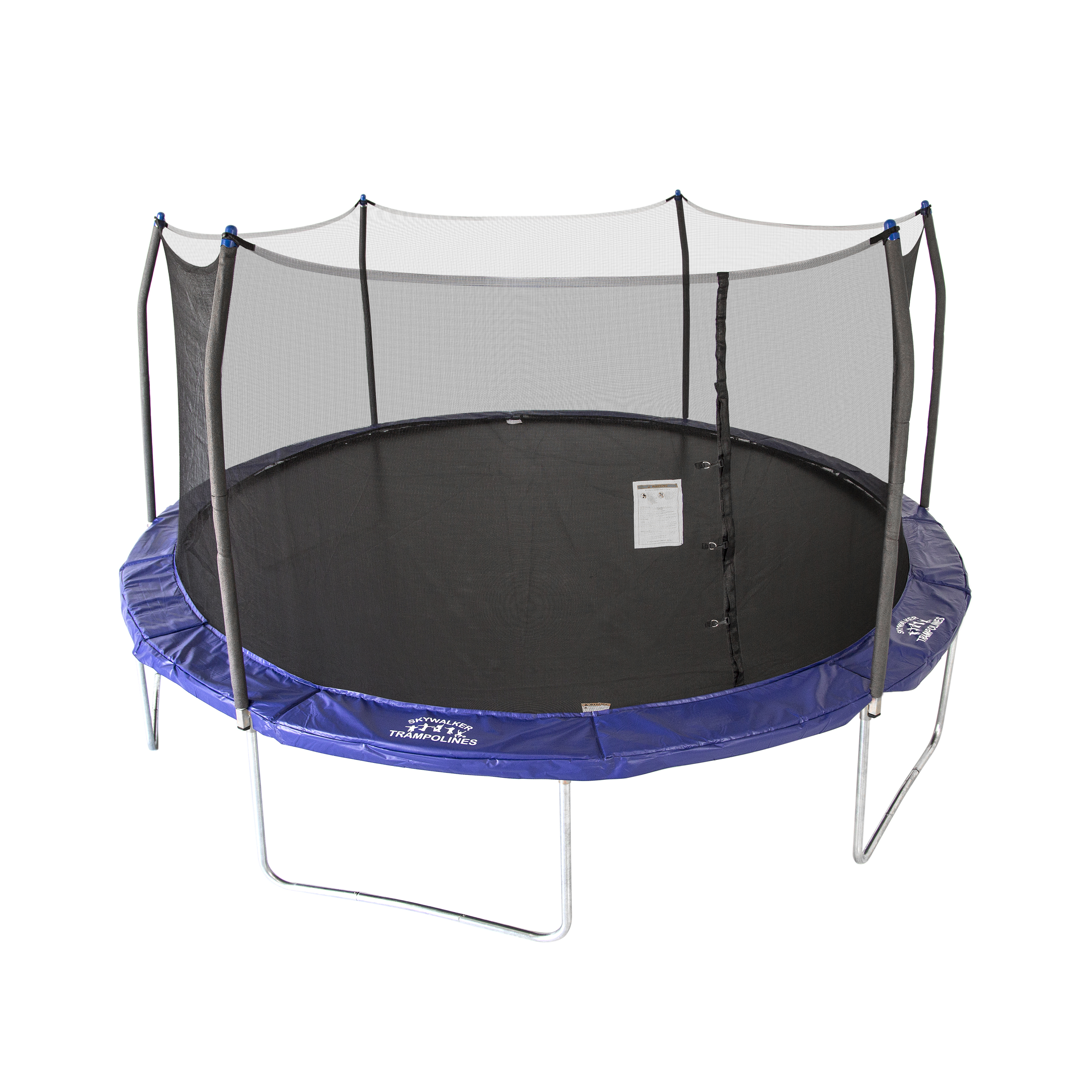 Skywalker Trampolines Oval 16-Foot Trampoline, with Safety Enclosure, Blue