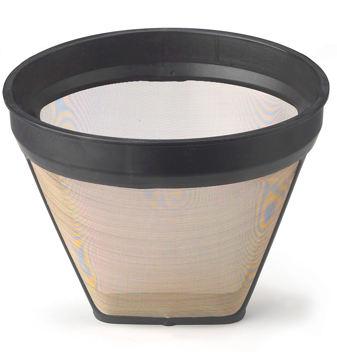 HIC Gold Tone Reusable Coffee Filter, Number 4-Size Filter, Brews 8 to 12-Cups by HIC Harold Import Co.