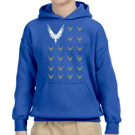 New Way 830 - Youth Hoodie Maverick Bird Savage Logang Flag Unisex Pullover Sweatshirt Small Royal Blue