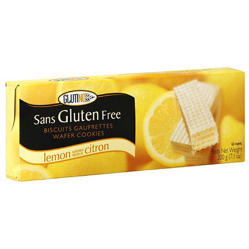 Glutino Lemon Wafer Cookies, 7.1 oz (Pack of 12)