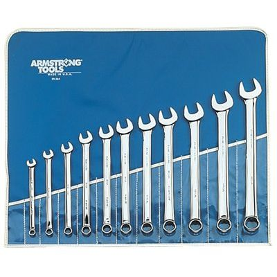 10 Extra Long Metric Combination Wrench Set