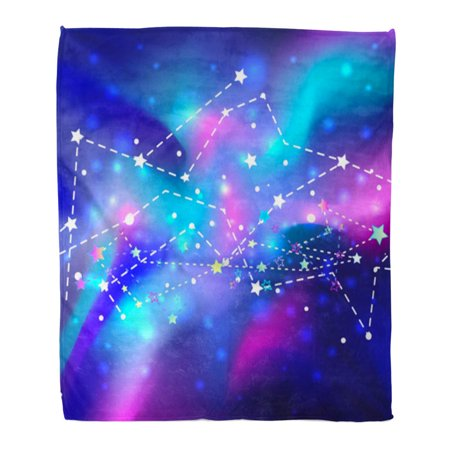 SIDONKU 58x80 inch Super Soft Throw Blanket Beautiful Mystic Galaxy Cosmic Outer Space Digital Colorful of Universe Home Decorative Flannel Velvet Plush Blanket