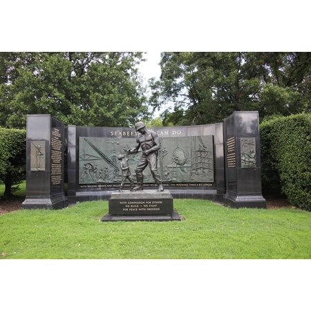 Laminated Poster Looking Due North At The Seabees Memorial  Located On Memorial Drive At Arlington National Cemetery Poster Print 24 X 36