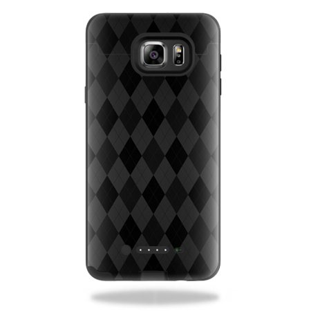 MightySkins Protective Vinyl Skin Decal for Mophie Juice Pack Samsung Galaxy Note 5 wrap cover sticker skins Black Argyle