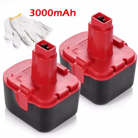 Drill Battery Packs (Powerextra 2-Pack 14.4V 3000mAh Replacement Battery For Lincoln Grease Gun 1401 1444 1442 Power Luber Drills Ni-CD Batteries )
