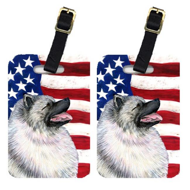 Carolines Treasures SS4051BT Pair Of USA American Flag With Keeshond Luggage Tags - image 1 of 1