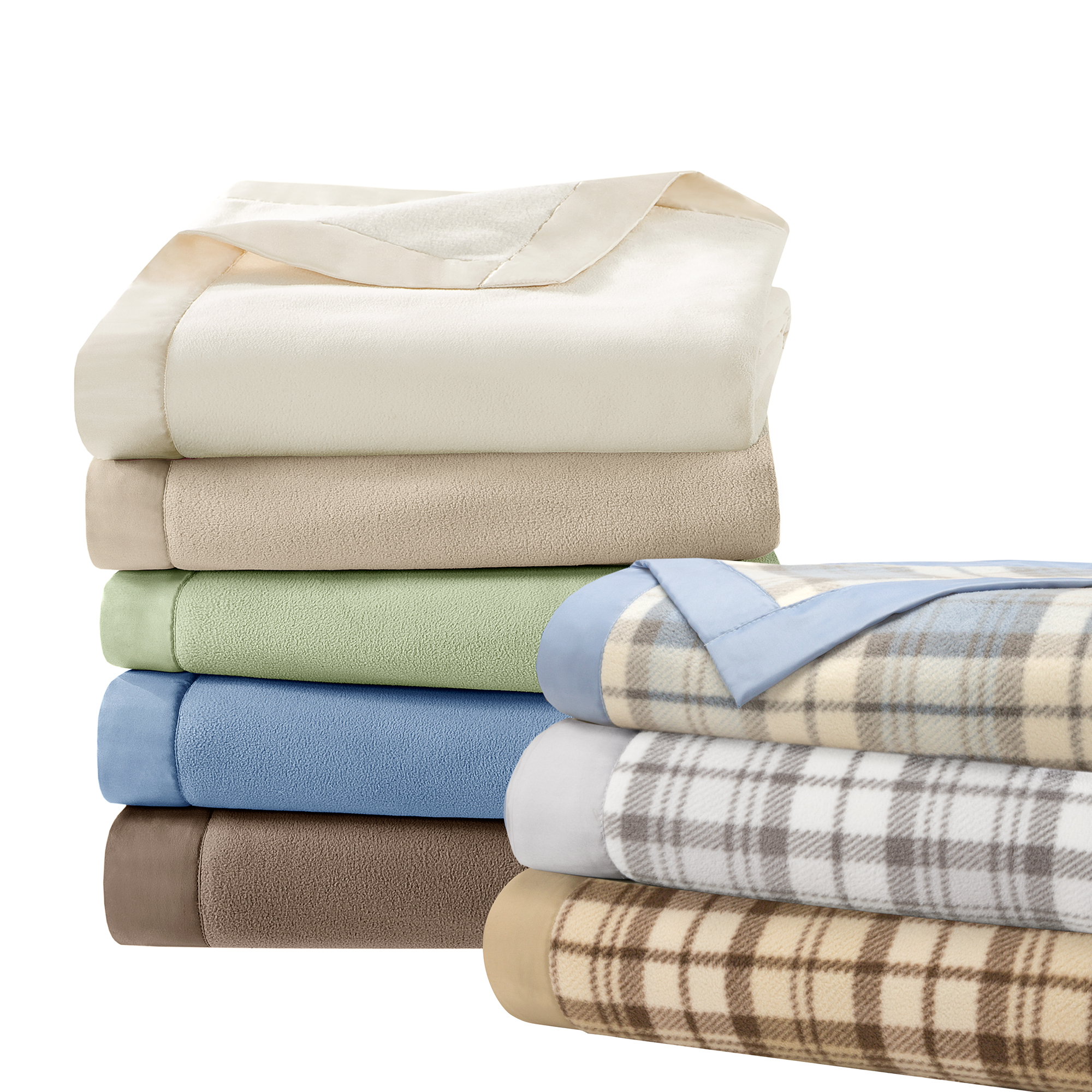 Comfort Classics Soft Brushed Lightweight Micro Fleece Blanket