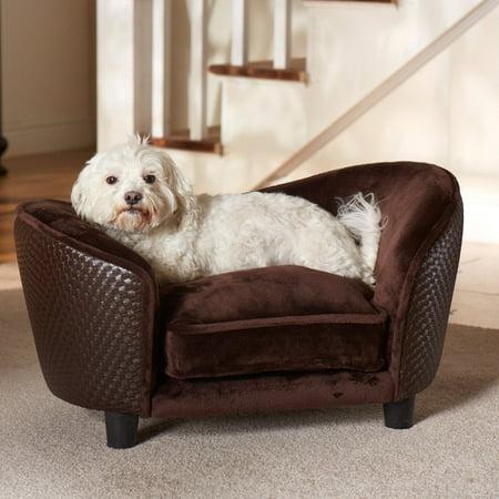 Enchanted Home Pet Ultra Plush Snuggle Sofa Dog Bed, Small, 26.75