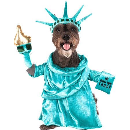 Statue Of Liberty Fourth Of July Pet Dog Cat Patriotic Costume (Baby Statue Of Liberty Costume)