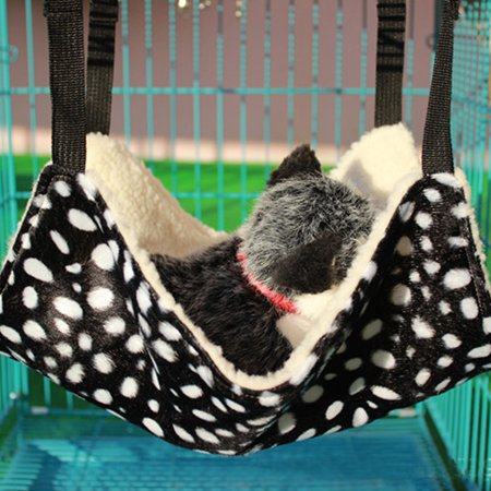 DSstyles Polk Dot Polyester Pet Rat Rabbit /Ferret Chinchilla/Cat Cage Hammock Small Dog Bed Cover Bag Blankets Quality gatos ()