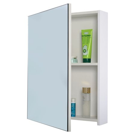Costway 20 Wide Wall Mount Mirrored Bathroom Medicine Cabinet Storage Mirror Door