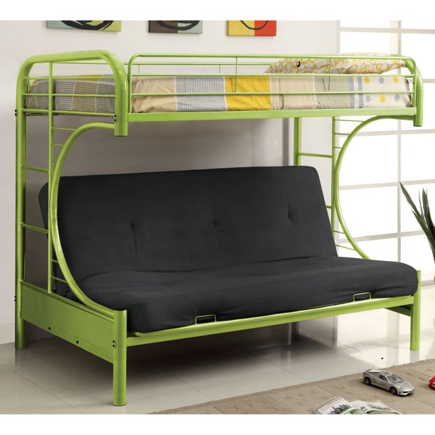 Furniture Of America Ravens Contemporary Twin Over Futon Bunk Bed Walmart Com