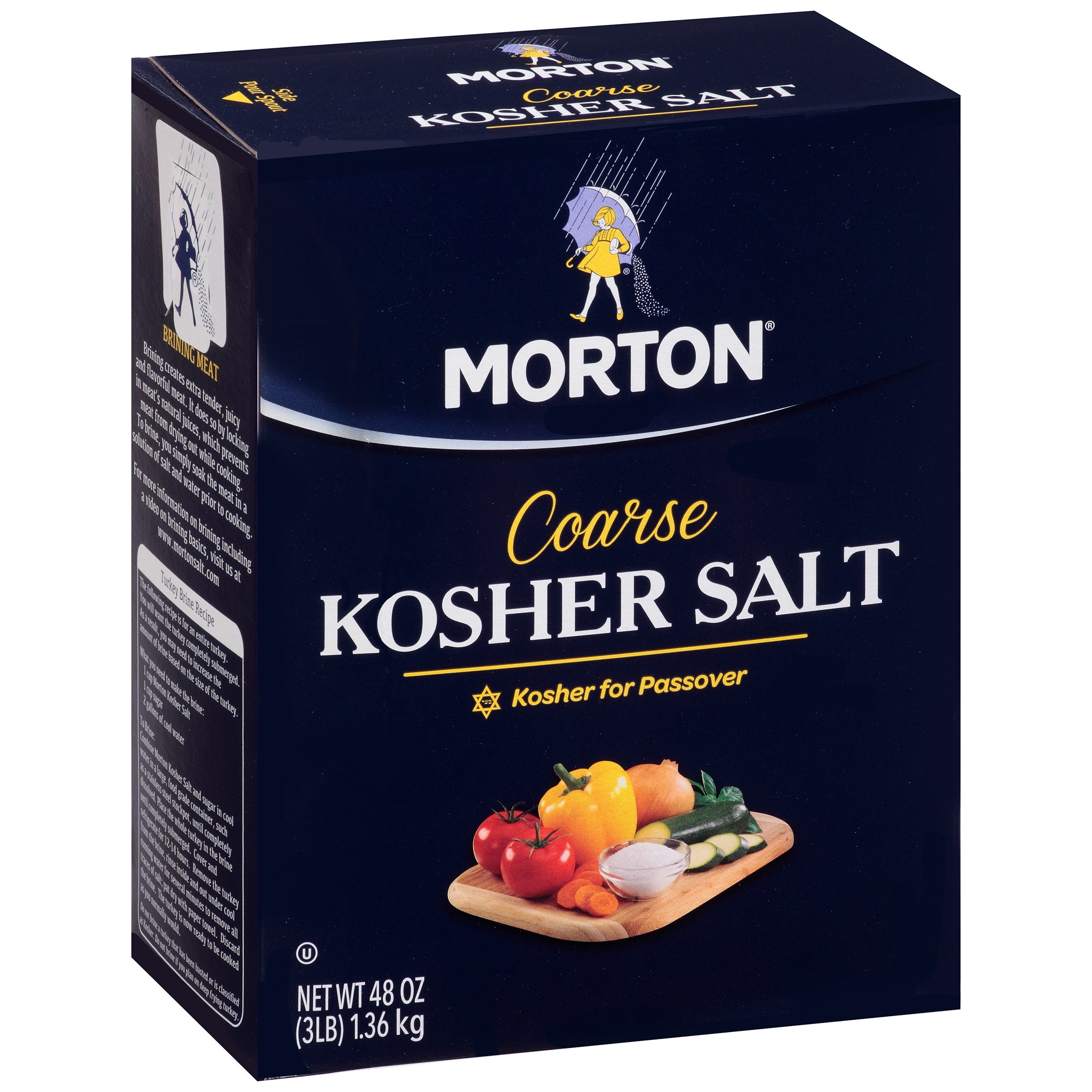 Morton Coarse Kosher Salt, 48.0 OZ by Morton Salt, Inc.