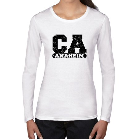 Anaheim, California CA Classic City State Sign Women's Long Sleeve T-Shirt](Anaheim City)