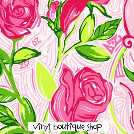 Delta Zeta Lilly Inspired Vinyl (Delta Zeta Car Decal)