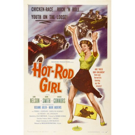 Hot Rod Girl (1956) 11x17 Movie Poster