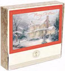 Card-Boxed-Merry Christmas-Kinkade (Box Of 18)