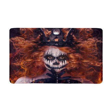 Mgt Body (MKHERT Queen of Death Scary Body Art Halloween Theme Doormat Rug Home Decor Floor Mat Bath Mat 30x18 inch)