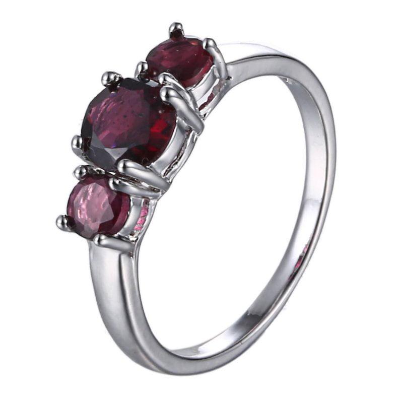 Fashion Jewelry Purple Rhinestone Finger Rings Women Jewelry