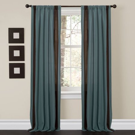 Charming Sand Blue Brown Window Curtains Set Of 2