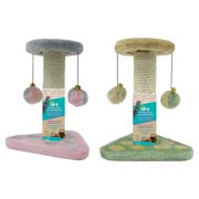 Penn-Plax - Two Piece - Sisal Cat Scratching Pad & Tower w/Hanging Toys